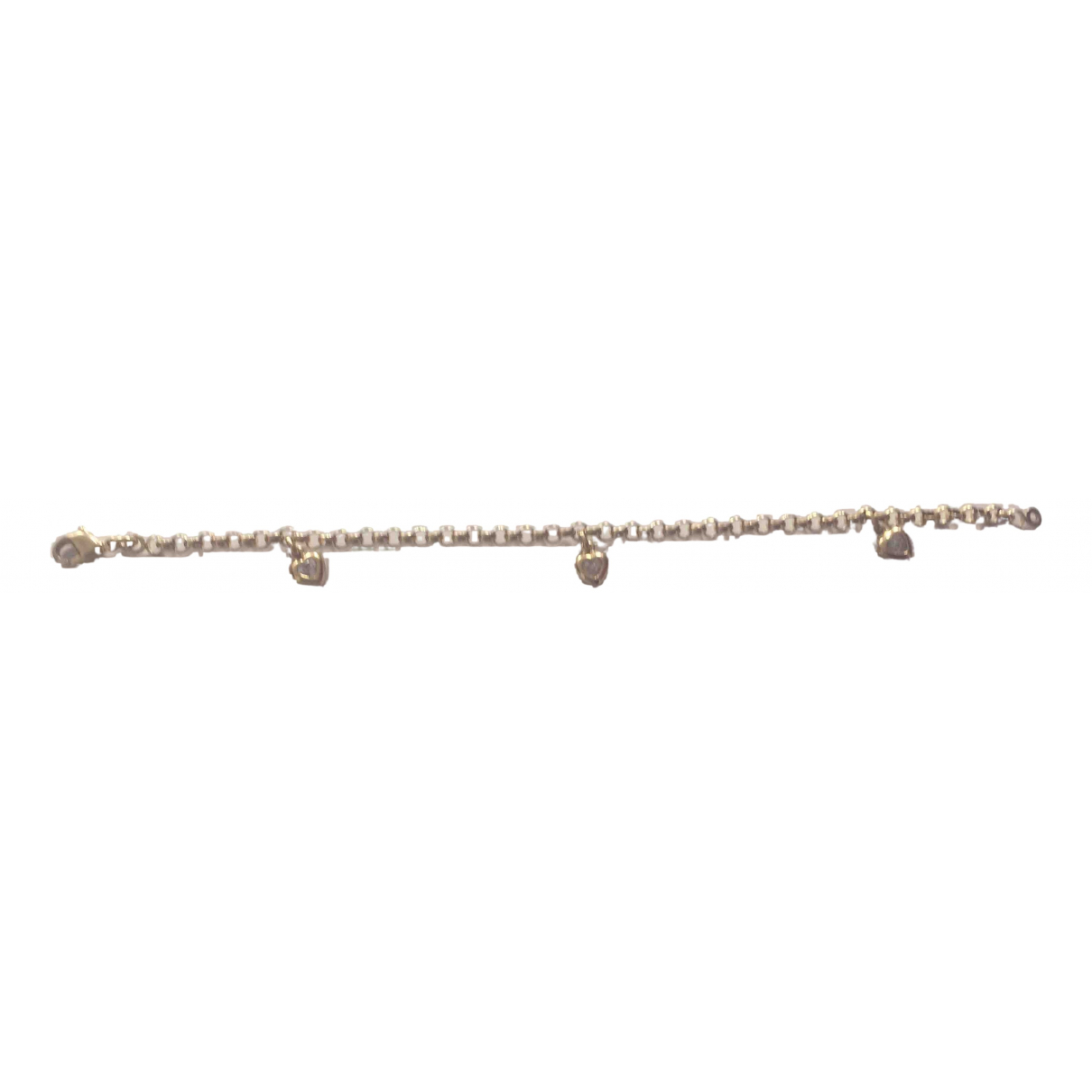 Non Signe / Unsigned Motifs Coeurs Armband in  Gold Gelbgold