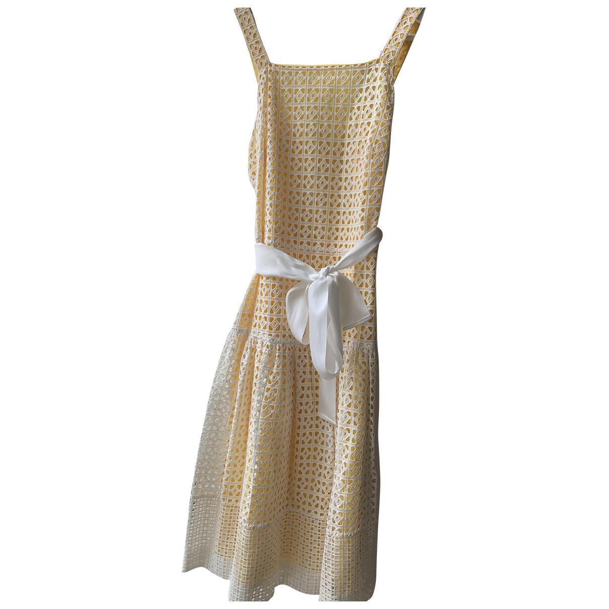 Carolina Herrera \N Kleid in  Gelb Baumwolle
