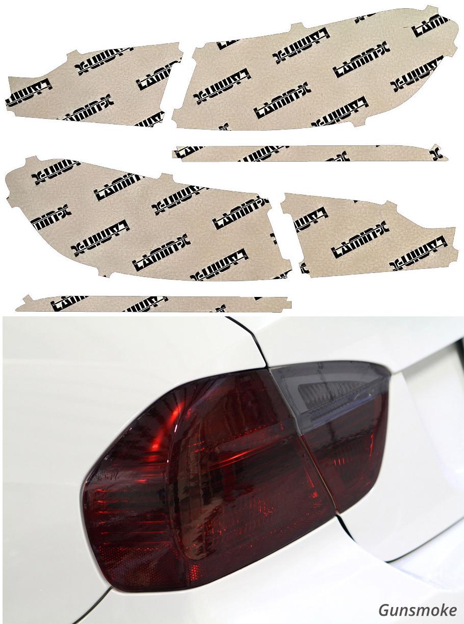 Lincoln MKX 16-18 Gunsmoke Tail Light Covers Lamin-X LN215G