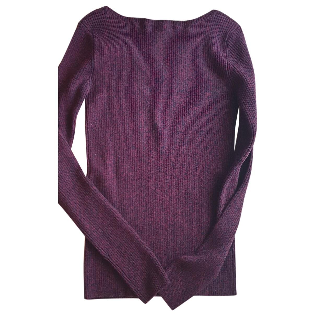 Maje - Pull   pour femme en laine - bordeaux