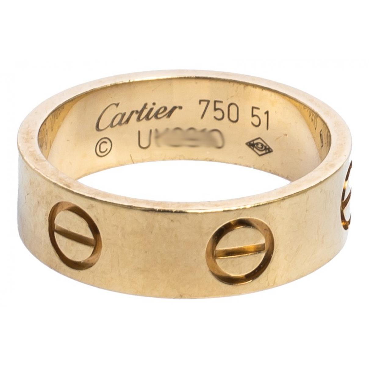 Anillo de Oro amarillo Cartier