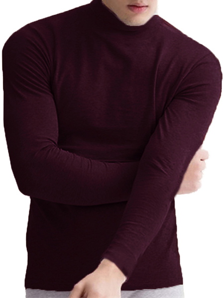 Yoins INCERUN Men Super Soft High Neck Skinny T-Shirts