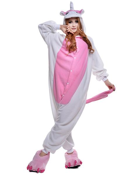 Milanoo Disfraz Halloween Licorne Kigurumi unicornio Traje Cosplay franela Animal Kigurumi Halloween