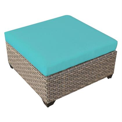 TKC015b-O-ARUBA Monterey Ottoman with 2 Covers: Beige and