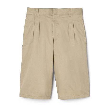 French Toast Big Boys Adjustable Waist Chino Short, 16 , Brown