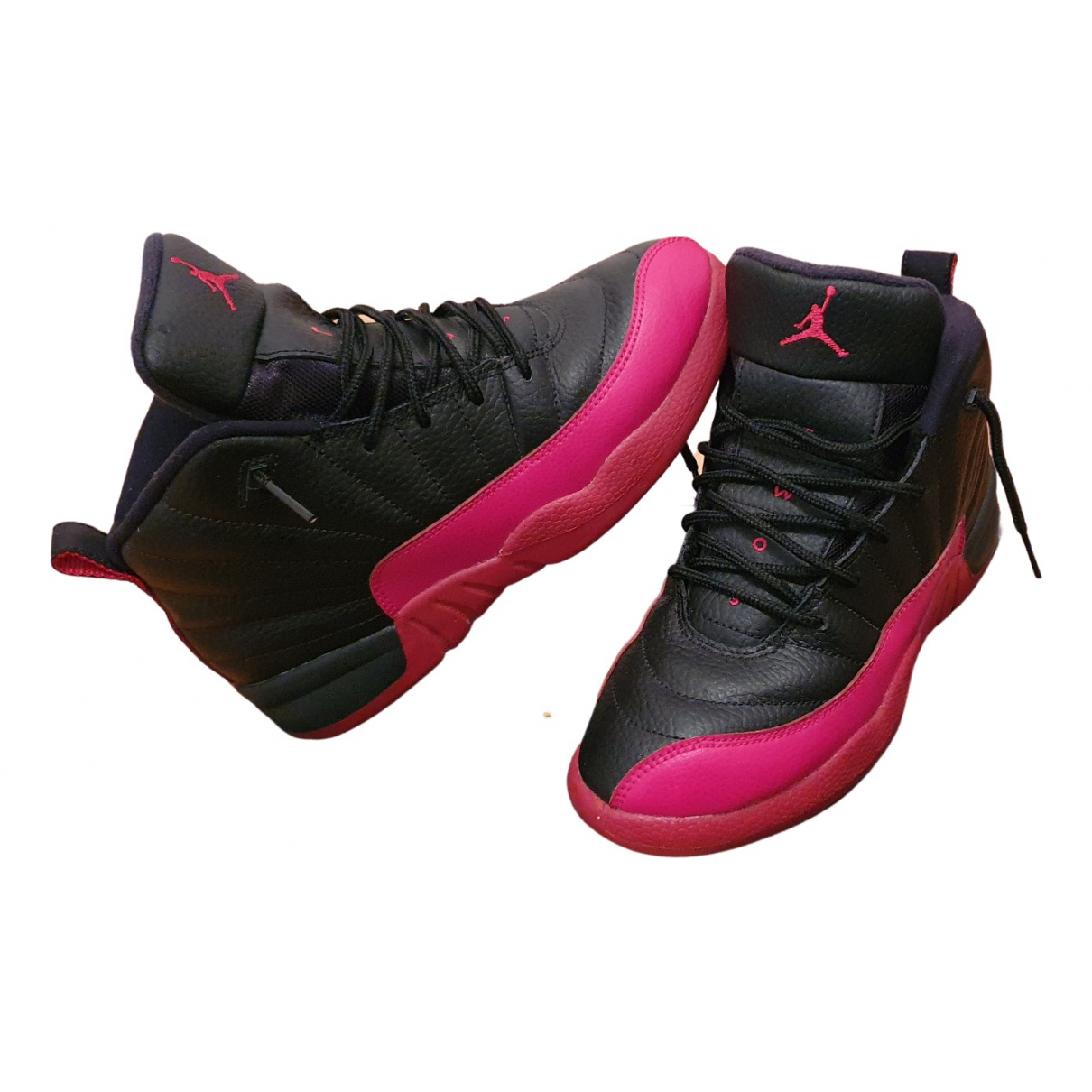 Jordan - Baskets Air Jordan 12 pour femme en cuir - rouge