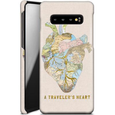 Samsung Galaxy S10 Plus Smartphone Huelle - A Travelers Heart von Bianca Green