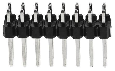 RS PRO , 16 Way, 2 Row, Straight Pin Header (25)