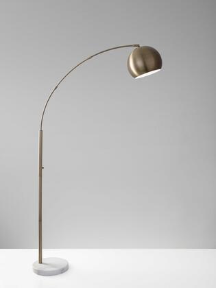 372754 Homeroots 12.5 X 42 X 78 Metal Arc Lamp in
