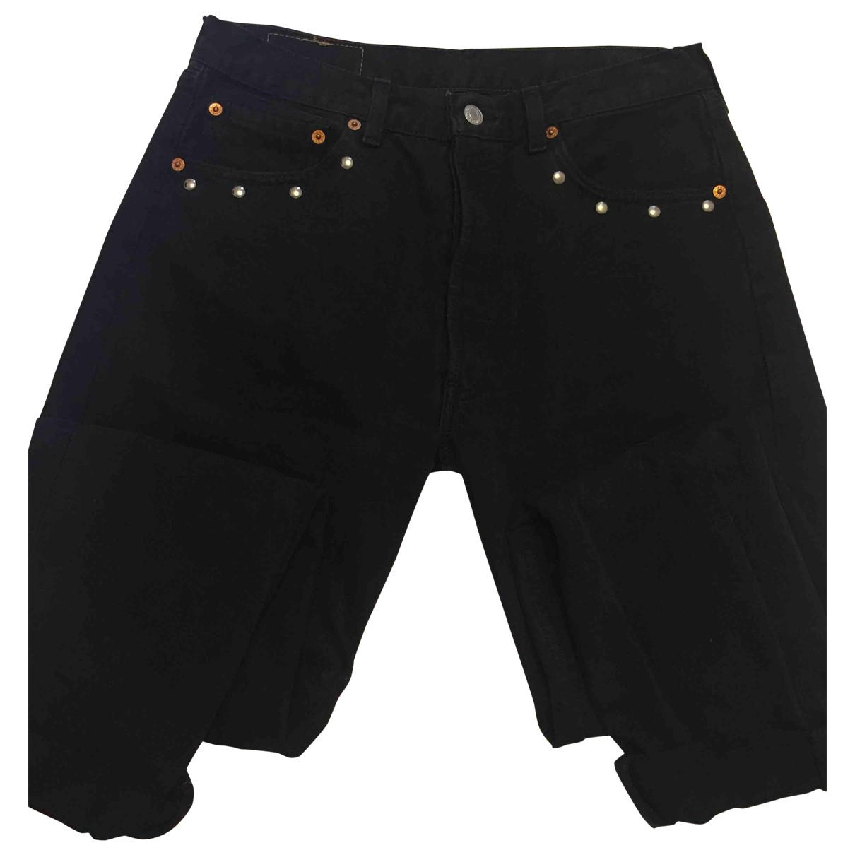 Levis \N Hose in  Schwarz Denim - Jeans