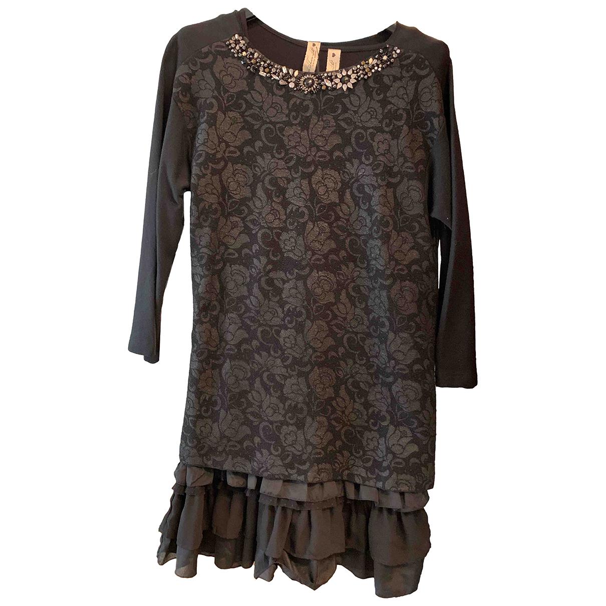 Twin Set \N Kleid in  Schwarz Baumwolle