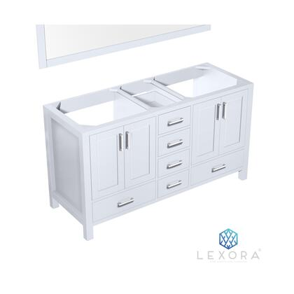 LJ342260DA00M58 Jacques 60 White Double Vanity  no Top and 58