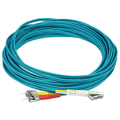 Câble fibre optique 10Gb, LC/ST, multi mode, duplex (type 50/125) - aqua - Monoprice® - 10m