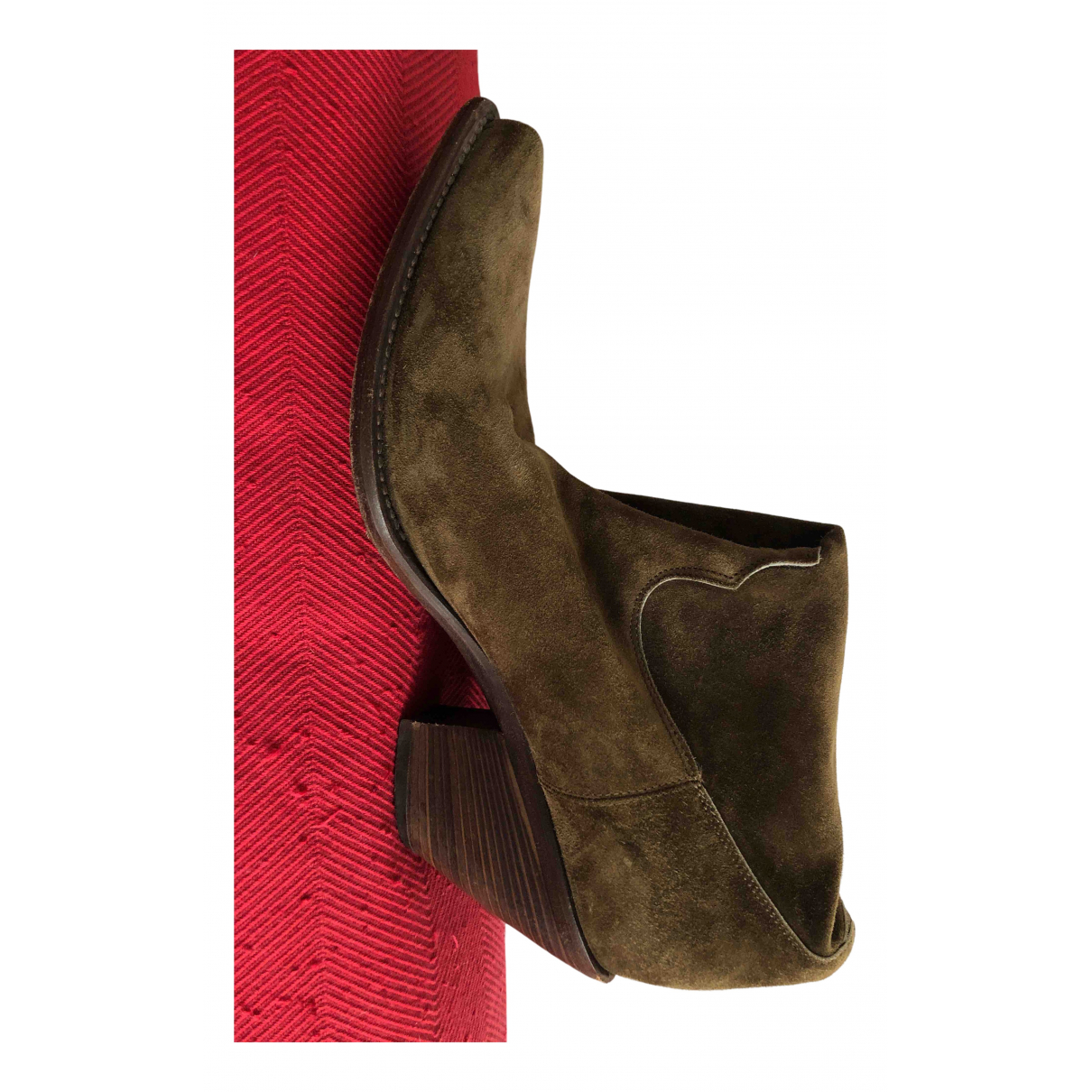 Non Signé / Unsigned N Brown Suede Ankle boots for Women 37 EU