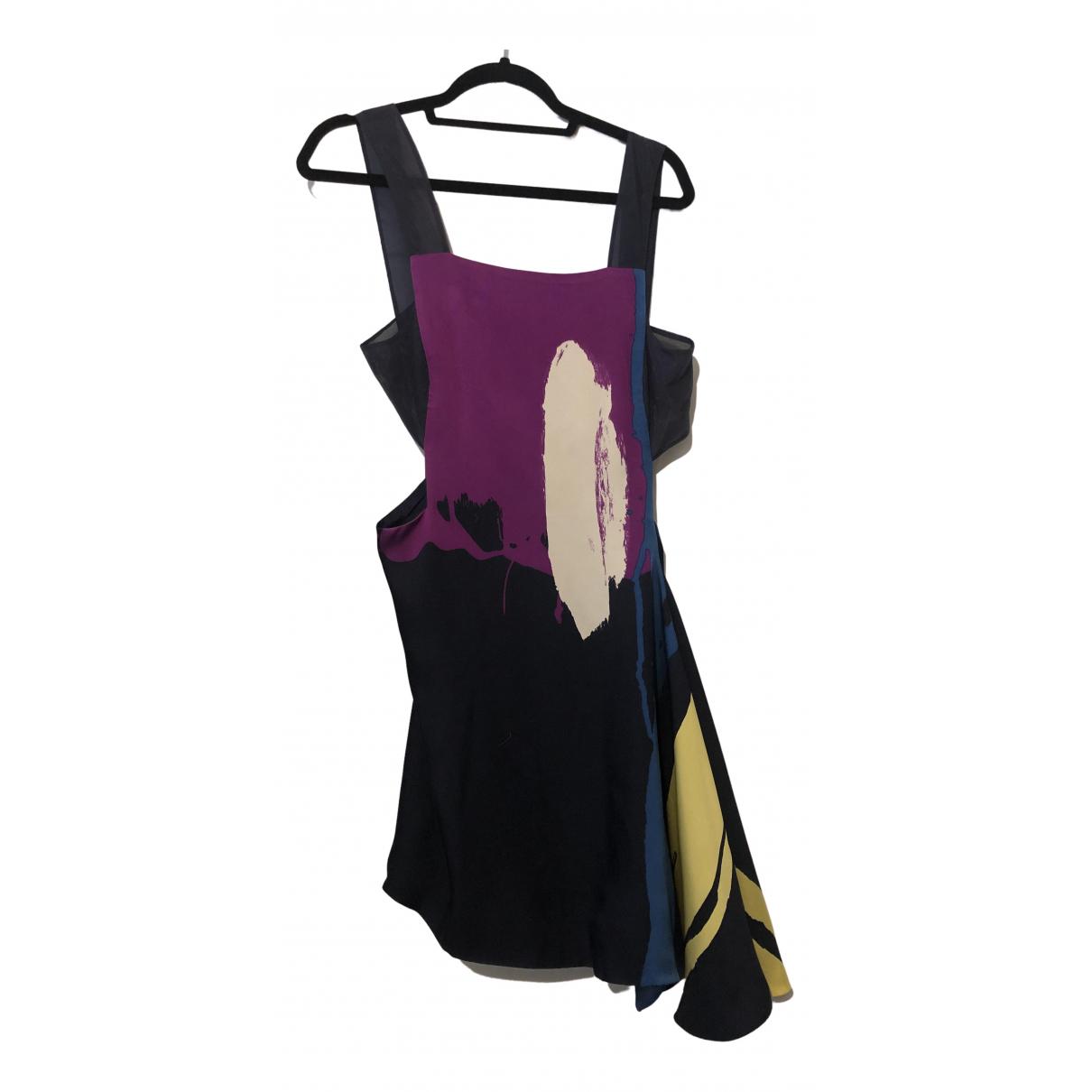 Chloe - Robe   pour femme en soie - marine