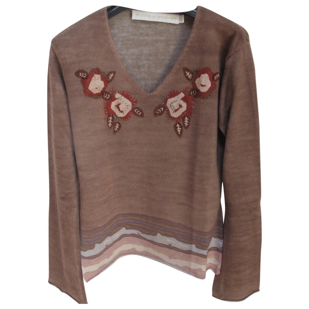 Munthe Plus Simonsen - Pull   pour femme en laine - marron