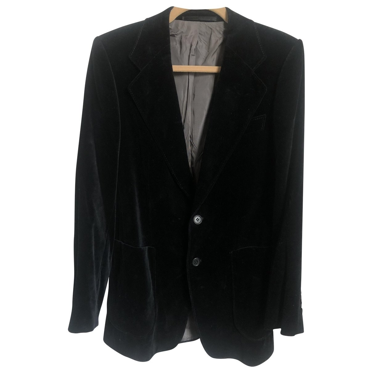 Non Signé / Unsigned \N Black Cotton jacket for Women M International