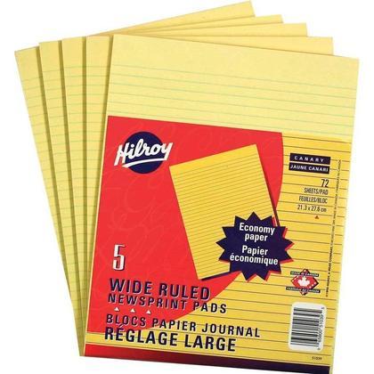 Hilroy 72 feuilles larges pads figurant lign es, 5 per pack (51039) 283135