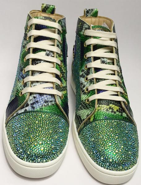 Milanoo Zapatos casuales Cuero con apariencia suave con pedreria comodos