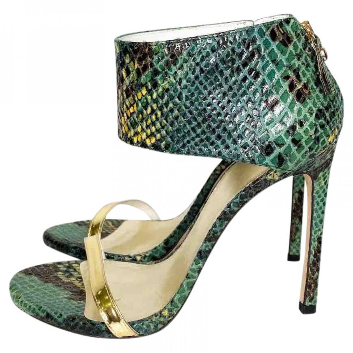 Stuart Weitzman \N Green Leather Sandals for Women 40 EU