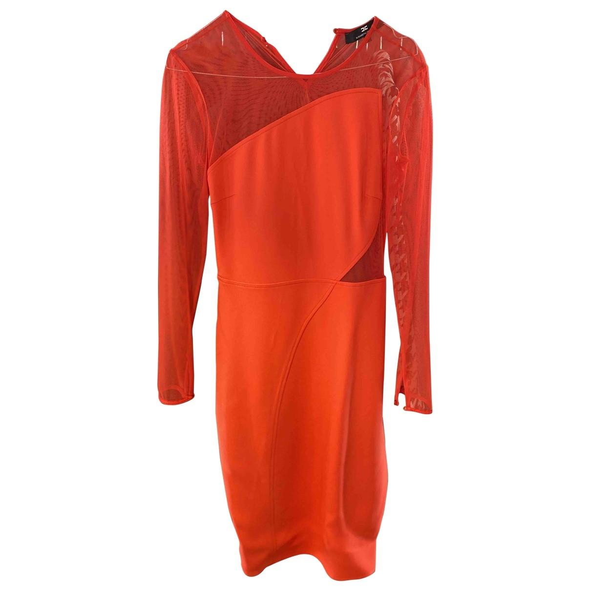 Elisabetta Franchi \N Kleid in  Orange Polyester
