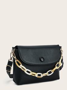 Minimalist Flap Satchel Bag
