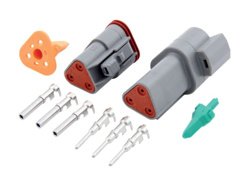 Quickcar Racing Products Deutsch Connector - 3-Pin