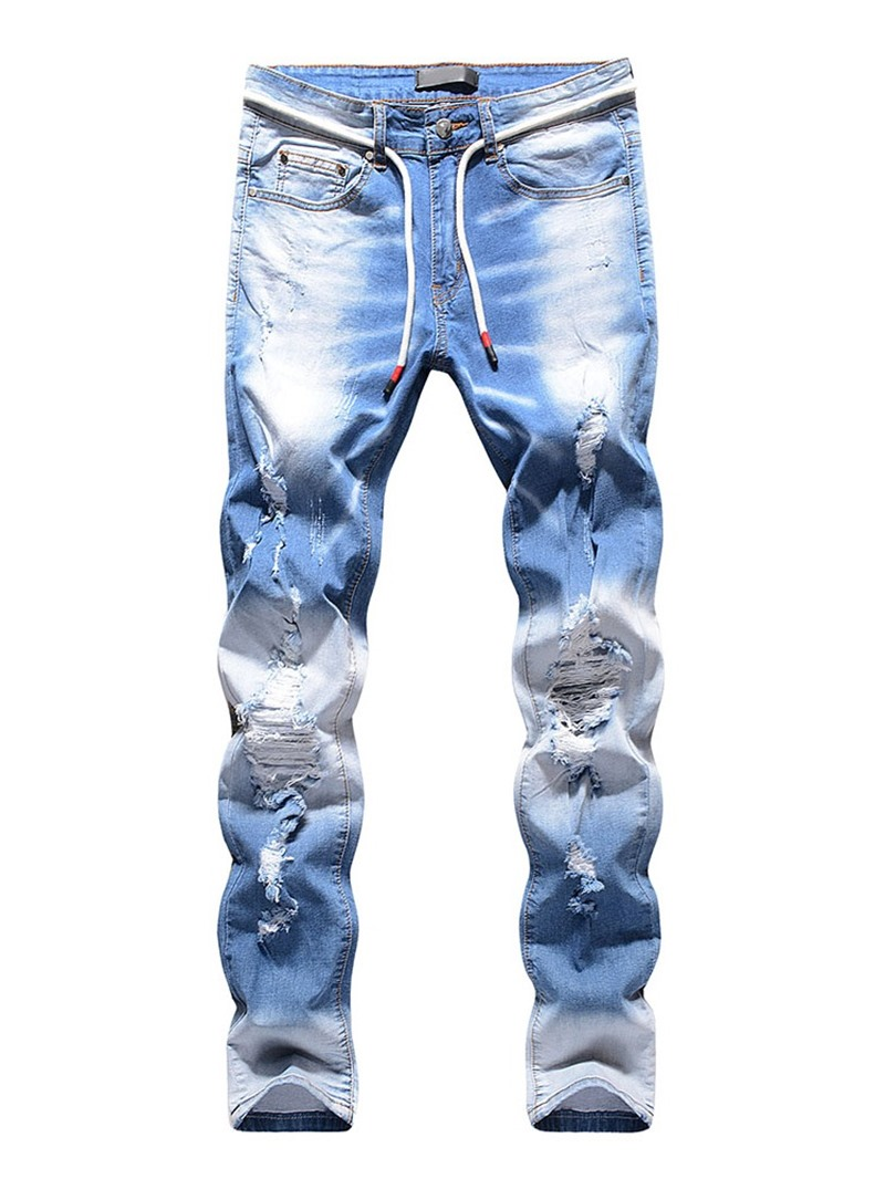 Ericdress Hole Casual Men's Jeans