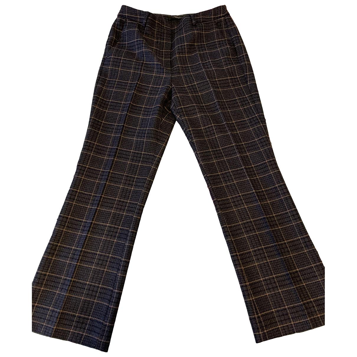 Max Mara Weekend - Pantalon   pour femme en laine - bleu