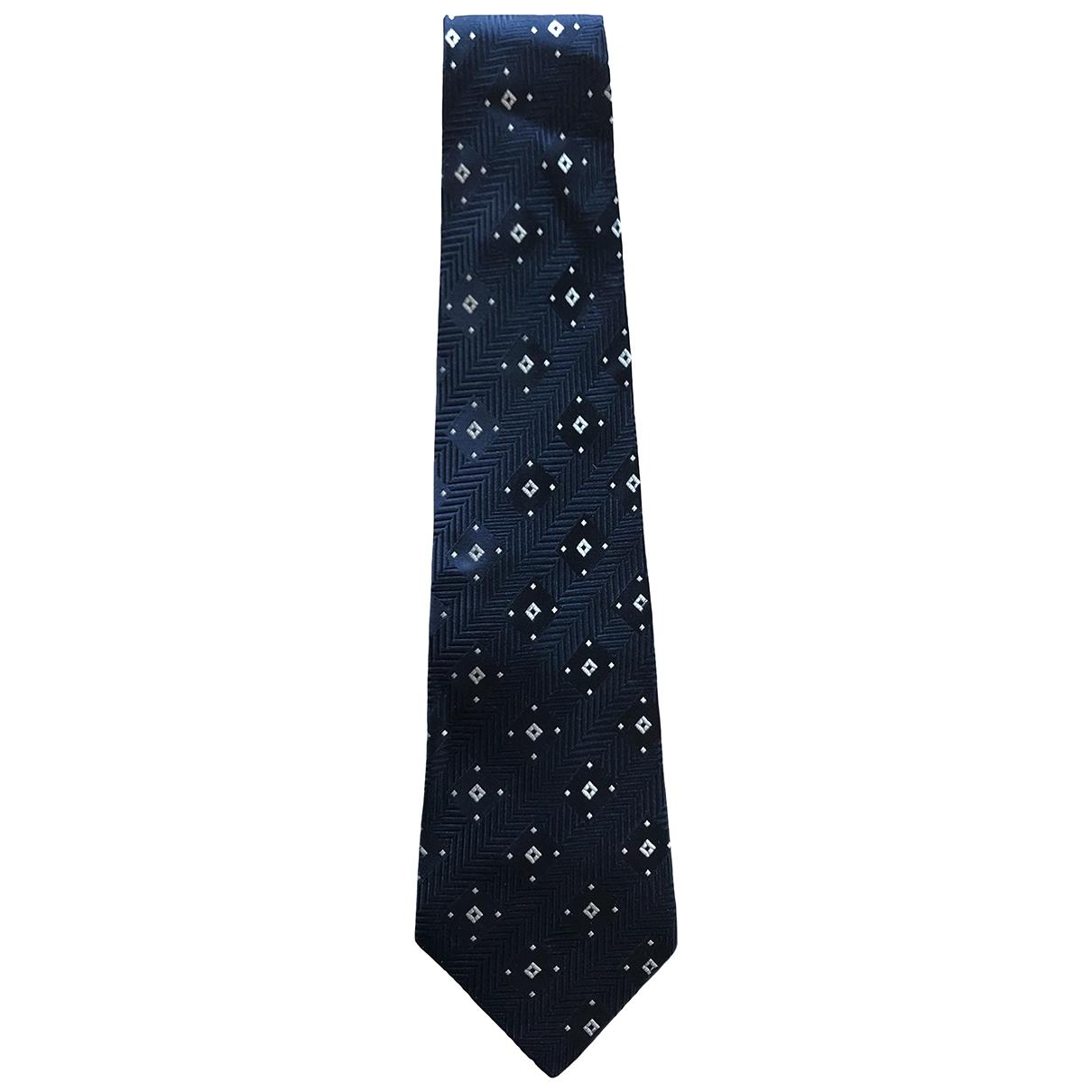 Dior \N Navy Silk Ties for Men \N