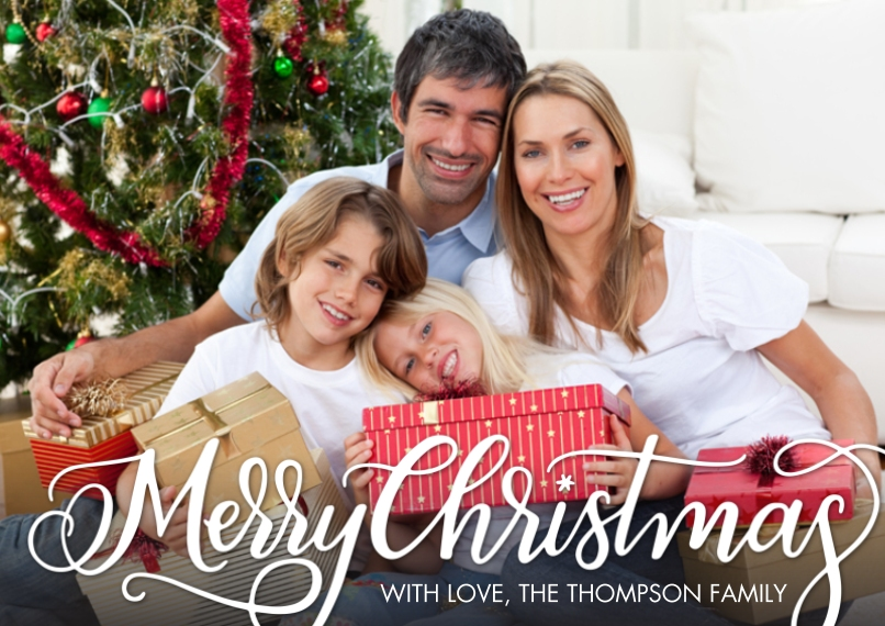Christmas Photo Cards 5x7 Cards, Premium Cardstock 120lb, Card & Stationery -Christmas Fancy Script