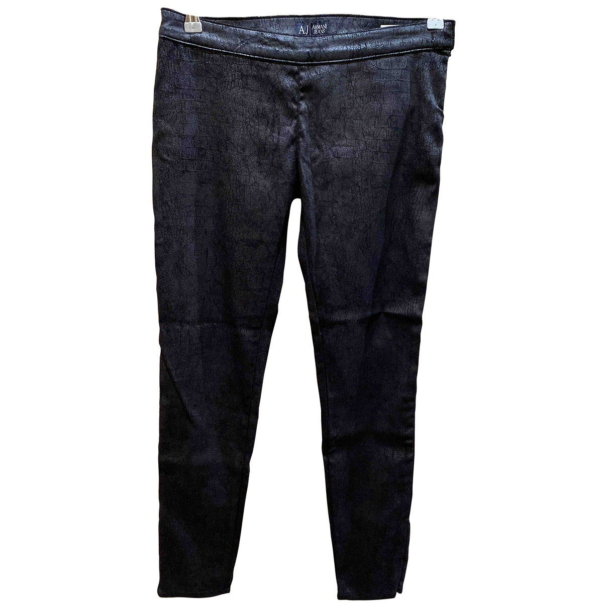 Armani Jeans \N Black Trousers for Women 40 IT