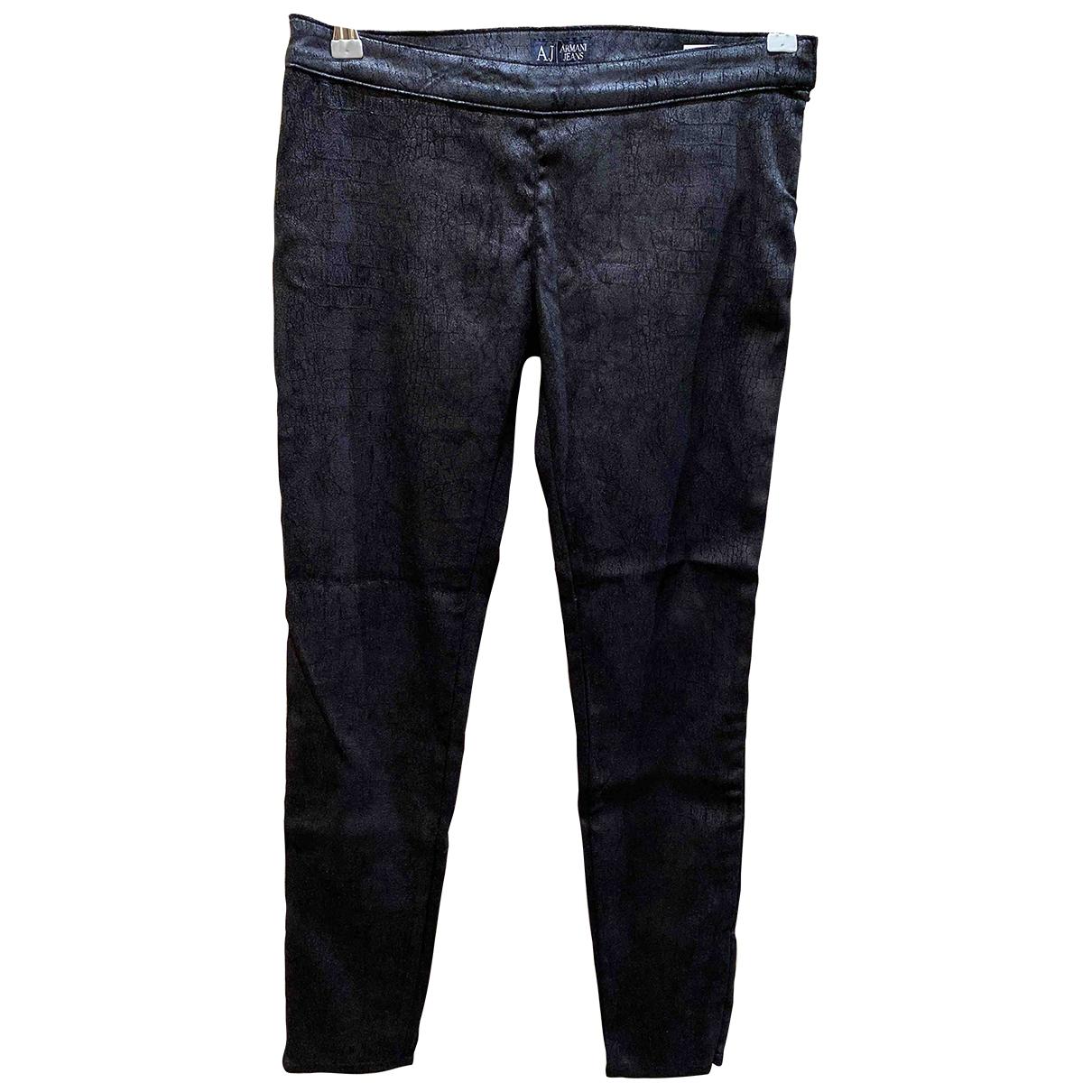 Armani Jeans \N Black Trousers for Women 40 IT
