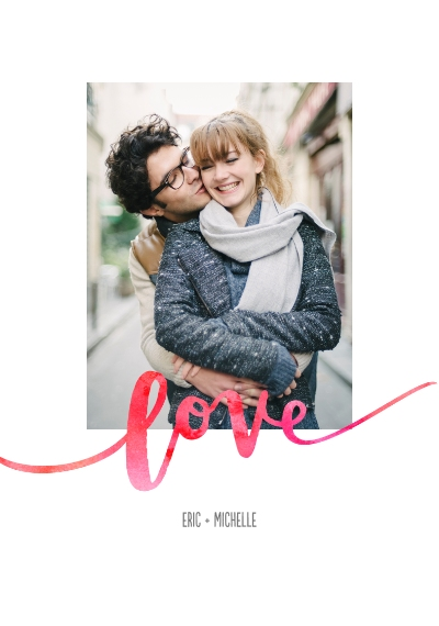 Love Framed Canvas Print, Black, 20x30, Home Décor -Love Watercolors