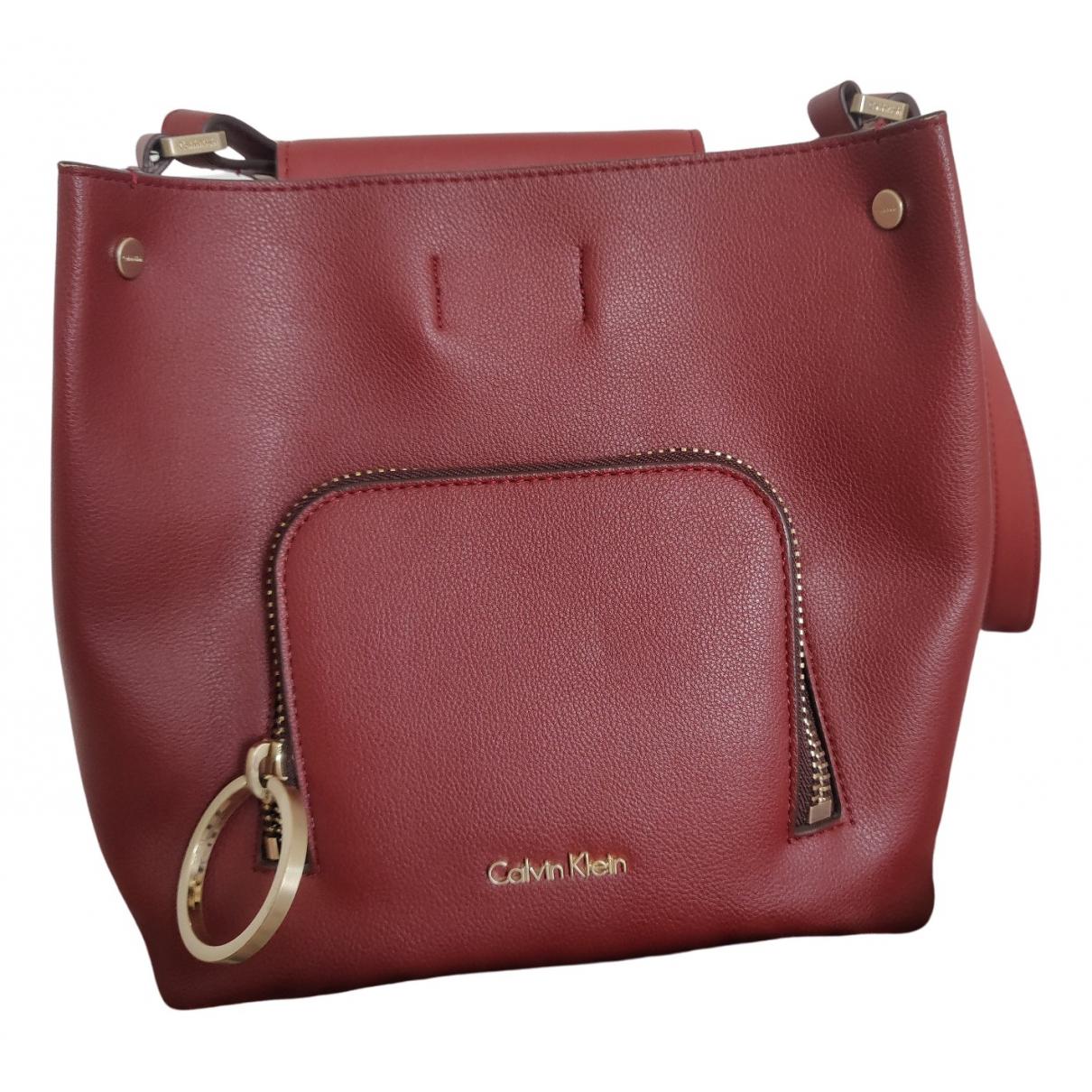 Calvin Klein - Sac a main   pour femme en cuir - camel