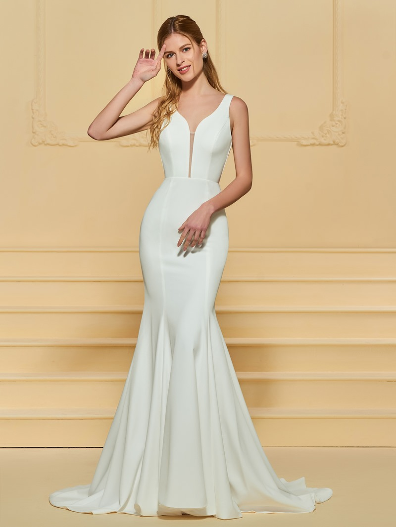 Ericdress Straps Mermaid Backless Wedding Dress