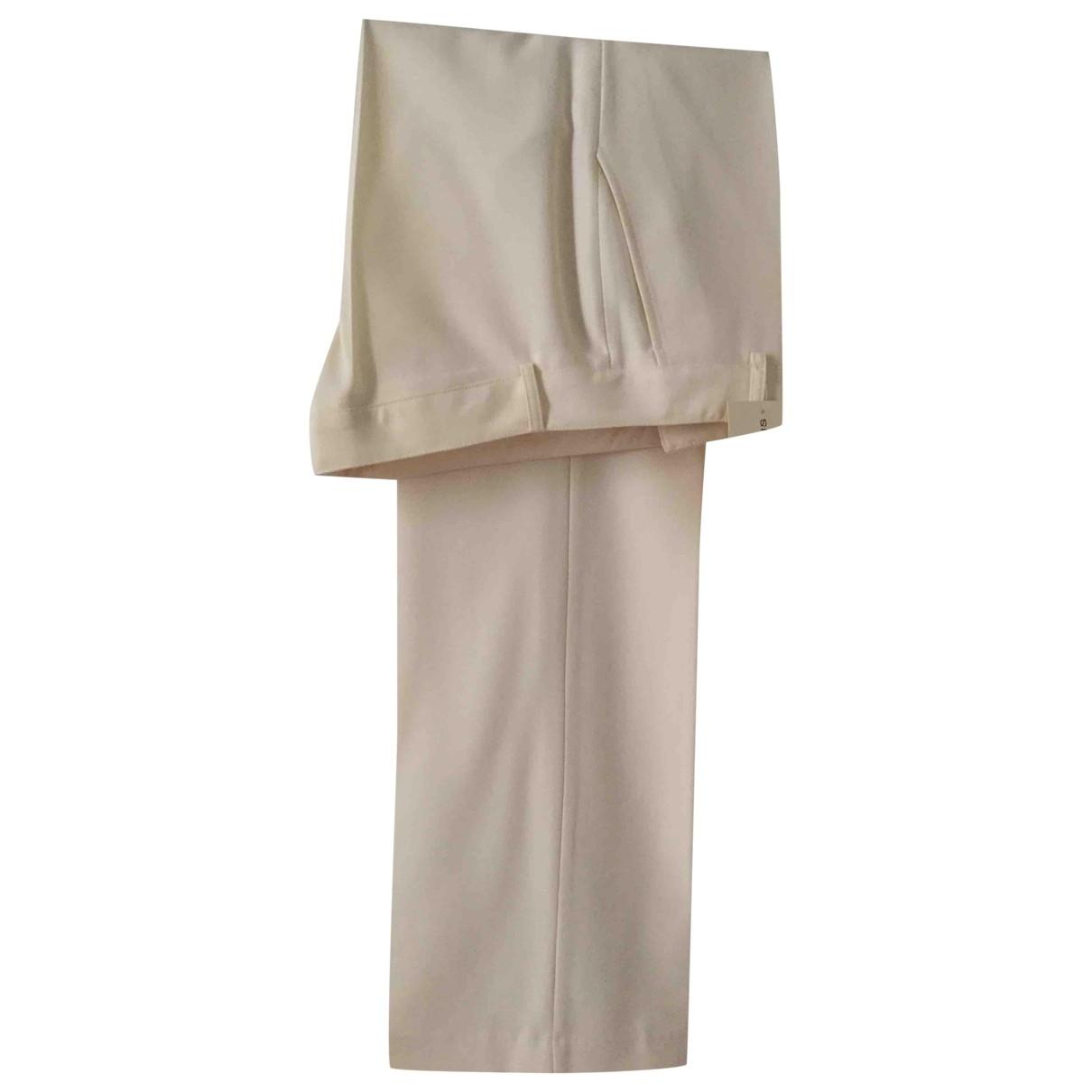 Regina Rubens \N Ecru Wool Trousers for Women 42 FR