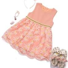 Vestidos para niña pequeña Bordado Floral Casual