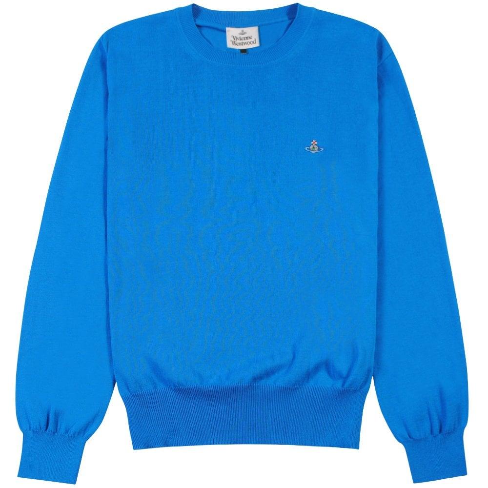 Vivienne Westwood Classic Knit Jumper  Colour: BLUE, Size: MEDIUM