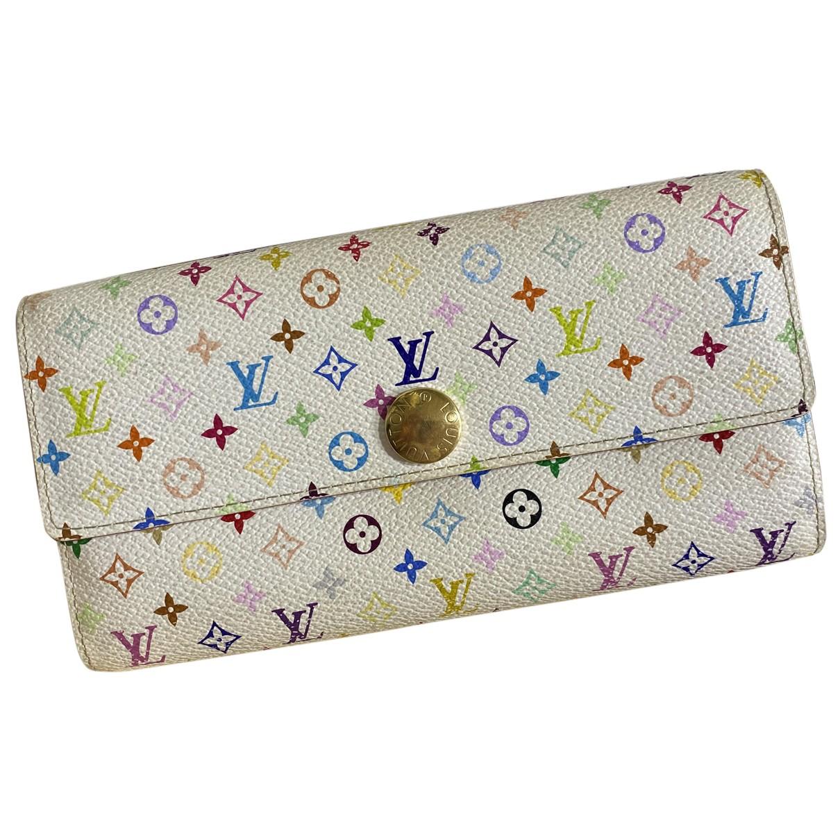 Louis Vuitton - Portefeuille   pour femme en cuir - multicolore