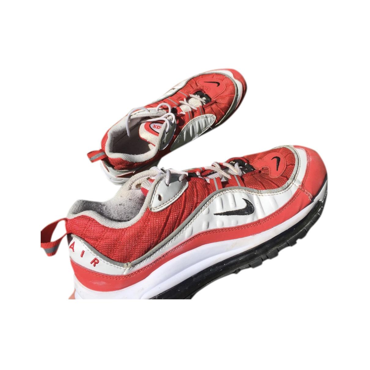 Nike - Baskets Air Max 98 pour femme en cuir - rouge