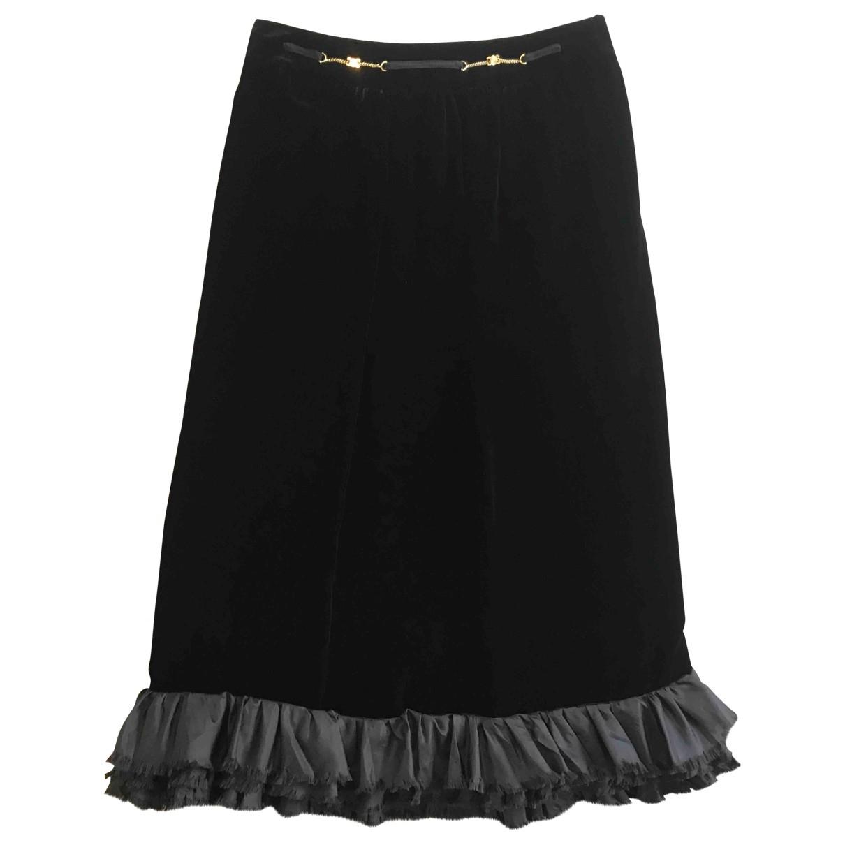 Celine \N Black Velvet skirt for Women 38 FR