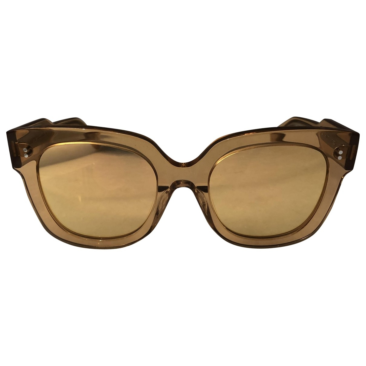 Chimi \N Gold Sunglasses for Women \N