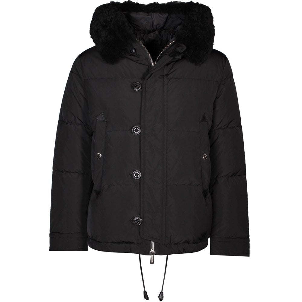 Dsquared2 Padded Parka Jacket Black Colour: BLACK, Size: EXTRA EXTRA LARGE