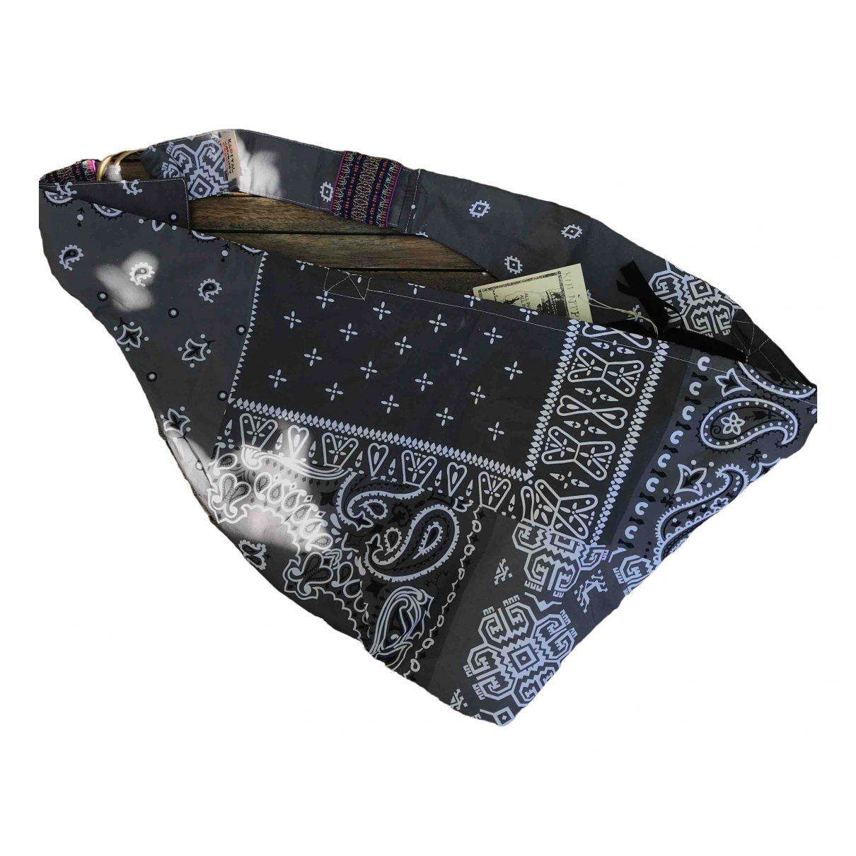 Non Signé / Unsigned \N Grey Cotton Small bag, wallet & cases for Men \N