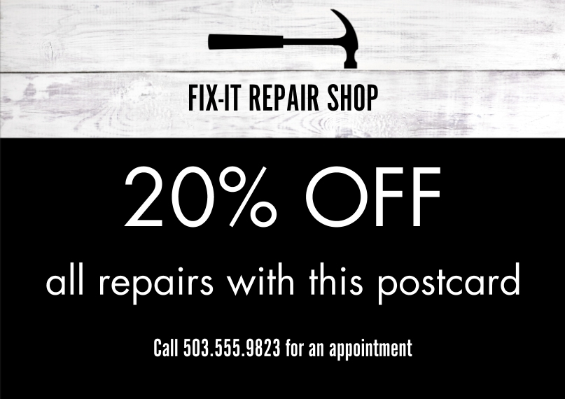 Construction & Repair Business Postcards, Business Printing -Fit It