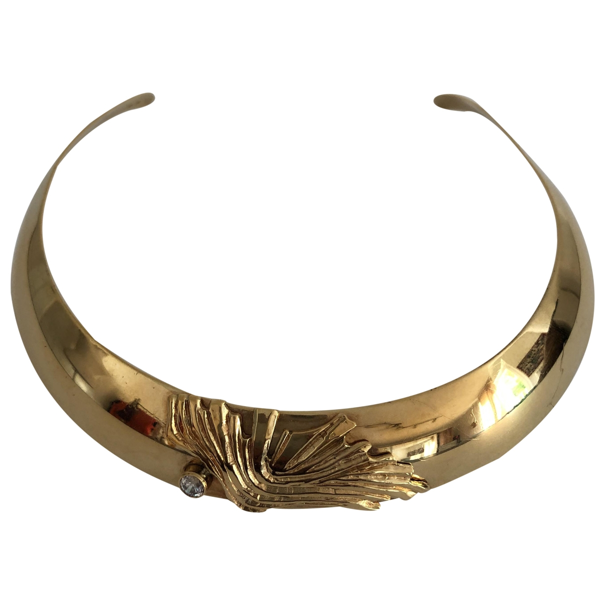 Non Signé / Unsigned Art Déco Gold Gold plated necklace for Women \N