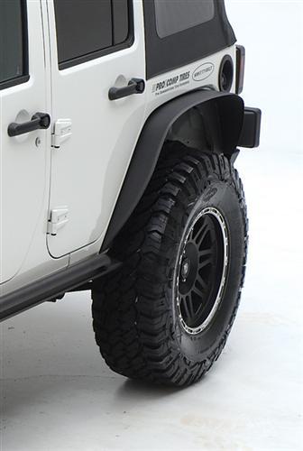 XRC Rear 3 Inch Fender Flares 76-86 CJ5, CJ7 Black Textured Smittybilt