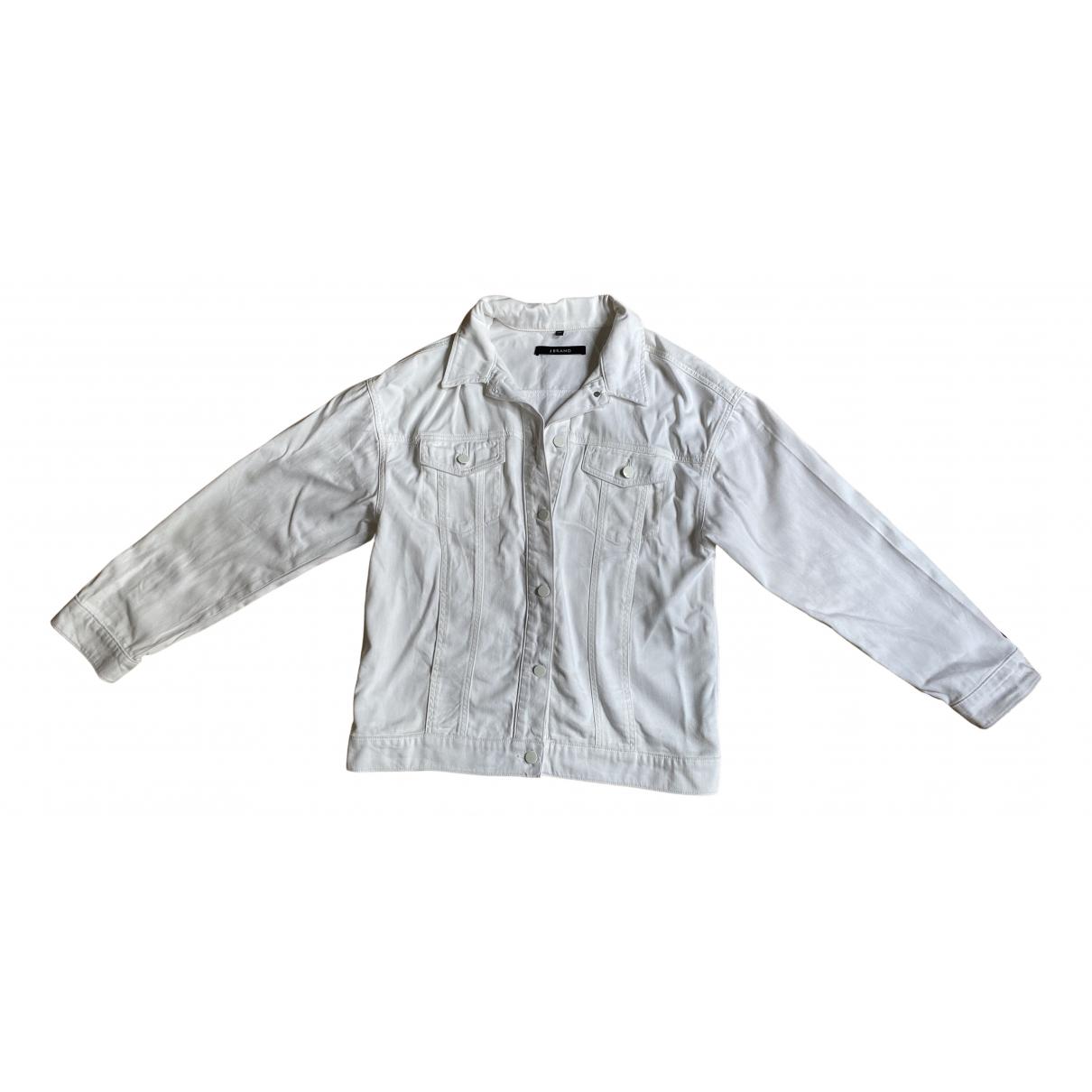 J Brand - Veste   pour femme en denim - blanc