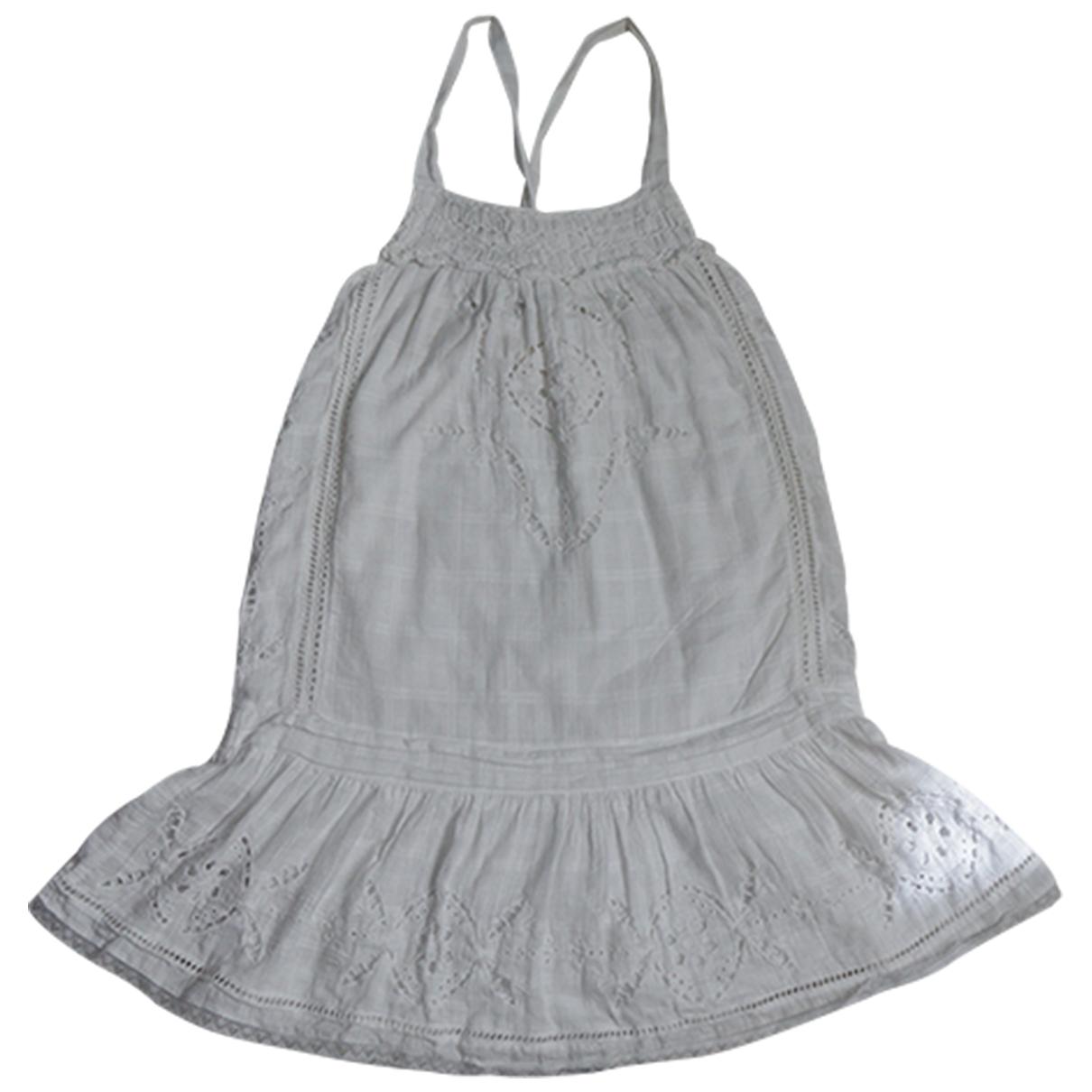 Vanessa Bruno Athe \N Kleid in  Weiss Baumwolle